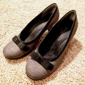 Black and Gray Aerosole high heels